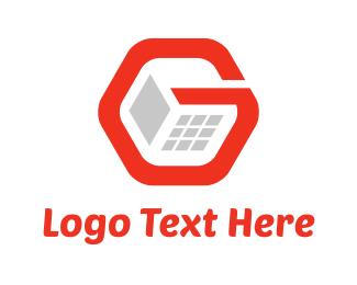 Server - G Computer logo design