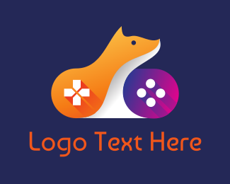 Hobby - Orange Fox Controller logo design