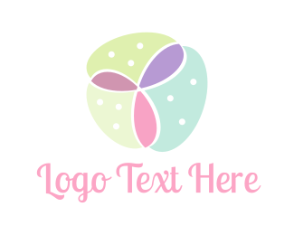 Nursery - Feminine Flower logo design