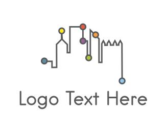 Skyline - City Network logo design