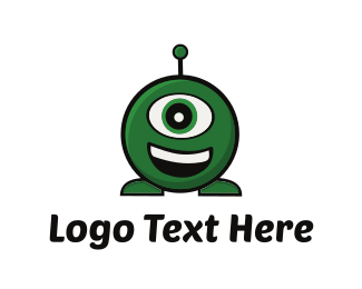 Martian - Green Alien  logo design