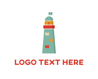 Child Care - Blue Lighthouse  logo design