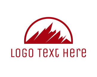 Summit - Abstract Red Mountain logo design