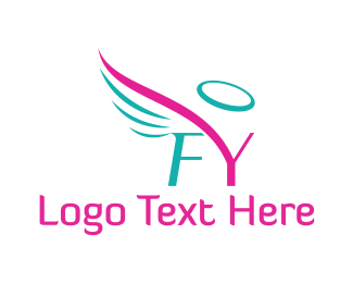 F&Y Angel Halo Wings Logo