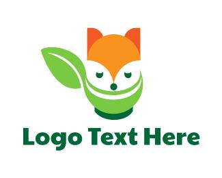 Salad - Raccoon Leaf Restaurant logo design
