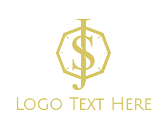 Accessory - Gold Jewel JS logo design