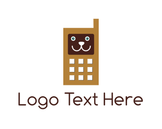 Smartphone - Dog Mobile logo design