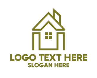 Shape - Green Shape House logo design