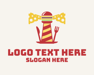 Lighthouse - Cheeseburger Lighthouse logo design