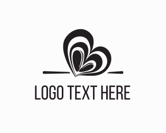 Coffee - Coffee Bean Heart logo design