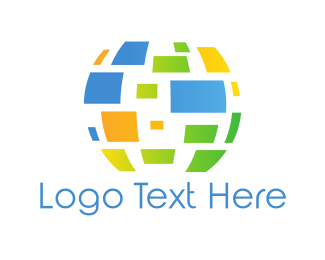 Global - Digital Globe logo design