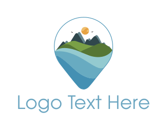 Hill - Mountain Landscape logo design