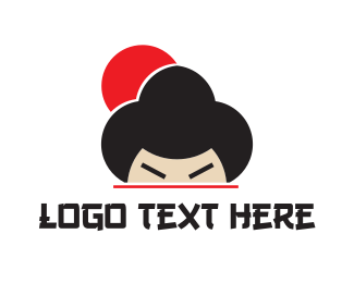 Japan - Japanese Geisha logo design