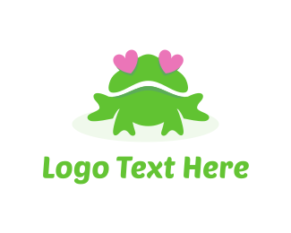 Frog - Frog Love logo design
