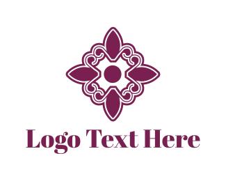 Tile - Purple Floral Tile logo design