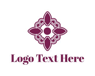 """Purple Floral Tile"" by Logrib"