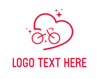 Cycling - Bicycle Love logo design