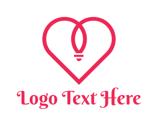 Red Heart Ring Logo Maker