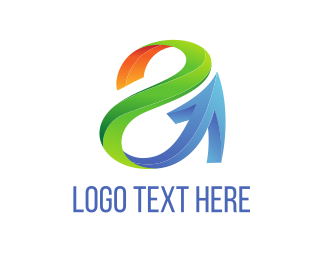 Gradient - Tech Letter A  logo design