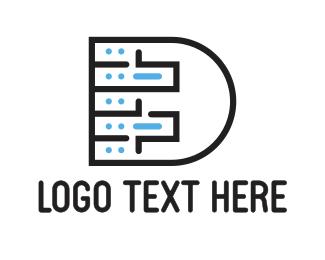 Gadget - Letter D Circuit logo design