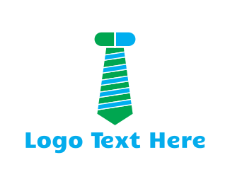 Tradesman - Green & Blue Screw Tie logo design