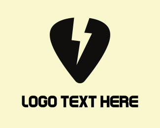 Guitar - Thunder Pick logo design