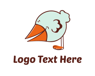 Little Bird Cartoon Logo