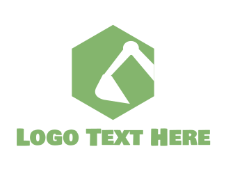 Handyman - Green Earthmover logo design