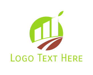 Bar Chart - Agriculture Growth logo design