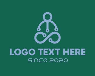 Relaxation - Yoga Tech logo design