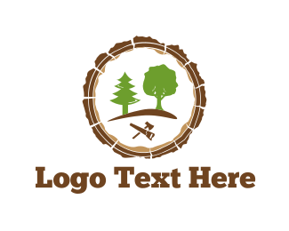 Lumberjack - Carpenter Tools logo design