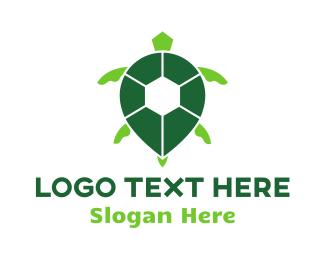 Tortoise - Turtle Green Spot logo design