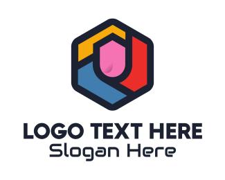 Browser - Colorful Hexagon logo design