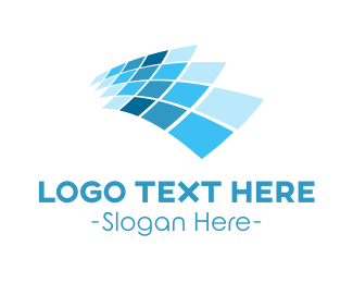 Programmer - Blue Tech Screen logo design