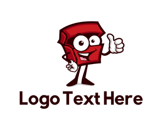 Friendly - Red Box logo design