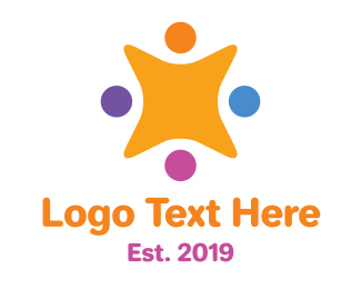 Kindergarten - Cute Star Team logo design