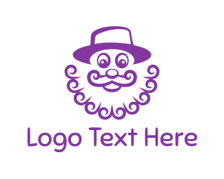 Gnome - Purple Clown logo design