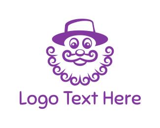 Clown - Purple Clown logo design