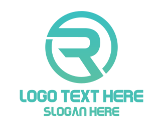 Racing - Modern R Circle logo design