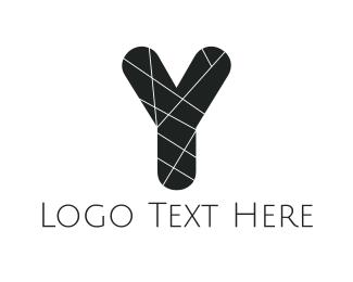 Advertising - Black Letter Y logo design