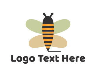 Bumblebee - Cute Bee Pencil logo design