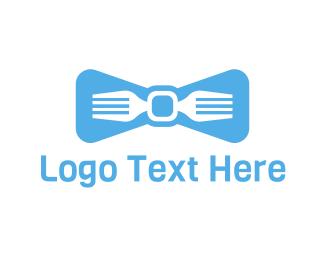 Tailor - Fork Tie logo design