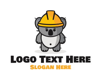 Bricklayer - Koala Work logo design