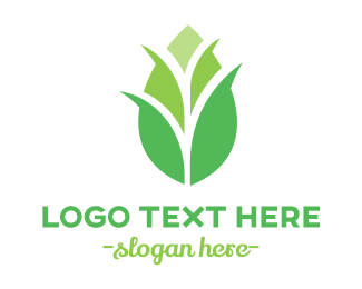 Primitive - Green Corn Stalk logo design