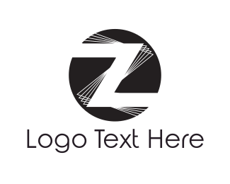 Disc Jockey - Letter Z logo design