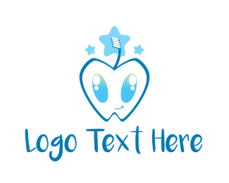 Toothbrush - Cute Tooth logo design