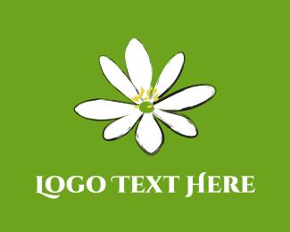 Greeting Card - Jasmine Flower logo design