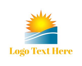 Sunlight - Sunny Beach logo design