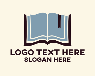 School - Open Book logo design