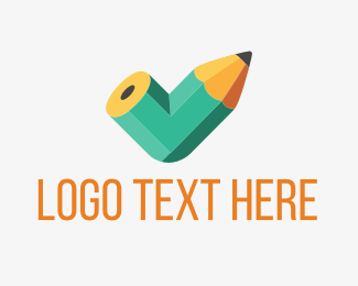 Drawer - Bent Pencil logo design